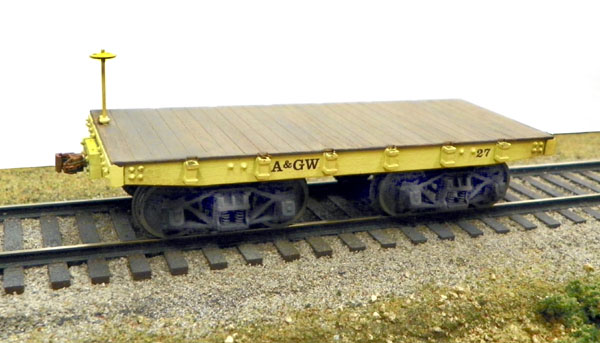 A&GW Flat Car in HO & O